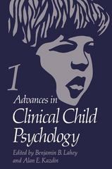 Advances in Clinical Child Psychology 0 9780306362811 0306362813