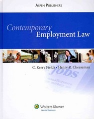 Employment Law 1st Edition 9780735596443 0735596441
