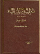 The Commercial Sales Transaction, an Introduction to the U. C. C. 2nd edition 9780314160461 0314160469