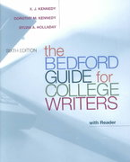 The Bedford Guide for College Writers with Reader 6th edition 9780312392918 0312392915
