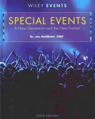 Special Events 6th edition 9780470449875 047044987X