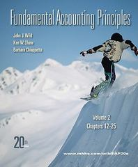 Fundamental Accounting Principles, Vol 2 (Chapters 12-25) 20th edition 9780077338244 0077338243