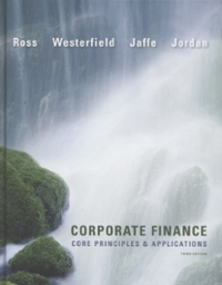 Corporate Finance: Core Principles and Applications 3rd edition 9780073530680 0073530689