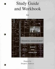 Study Guide and Workbook to accompany Foundations of Financial Management 14th Edition 9780077316266 0077316266