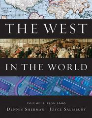 The West in the World, Volume II: From 1600 4th Edition 9780077367602 007736760X