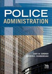 Police Administration 7th Edition 9781437755053 1437755054