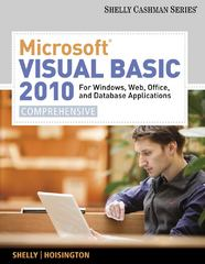 Microsoft Visual Basic 2010 for Windows, Web, Office, and Database Applications 1st edition 9781133009009 113300900X