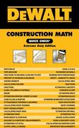 DEWALT Construction Math Quick Check 1st Edition 9781111128579 111112857X