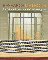 Research Methods for Criminal Justice and Criminology 6th Edition 9780495811695 0495811696