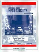The Analysis and Design of Linear Circuits 6th Edition 9780470630099 0470630094