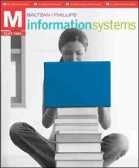 M: Information Systems with Connect Plus 1st Edition 9780073376837 0073376833
