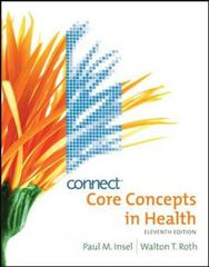 Core Concepts in Health with Connect Plus Personal Health Access Card 11th edition 9780077407315 0077407318