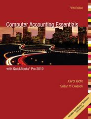 Computer Accounting Essentials with QuickBooks Pro 2010 5th edition 9780077408954 0077408950