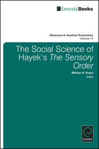 The Social Science of Hayek's 'the Sensory Order' 1st edition 9781849509749 1849509743