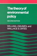 The Theory of Environmental Policy 2nd edition 9780521311120 0521311128