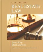 Real Estate Law 6th edition 9781419511332 1419511335