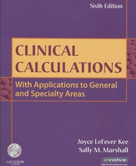 Clinical Calculations 6th edition 9781416047407 1416047409