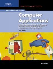 Performing with Computer Applications 3rd edition 9781418865153 141886515X
