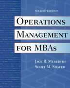 Operations Management for MBAs 2nd edition 9780471000600 0471000604