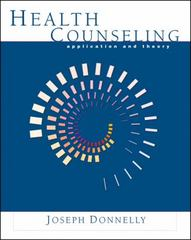 Health Counseling 1st Edition 9780534602642 0534602649