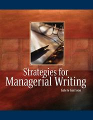 Strategies for Managerial Writing 1st edition 9780324015416 0324015410