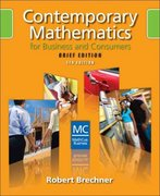 Contemporary Mathematics for Business and Consumers, Brief Edition (with CD-ROM) 5th edition 9780324658644 0324658648