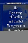The Psychology of Conflict and Conflict Management in Organizations 0 9781136679926 1136679928