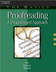 The Basics: Proofreading 4th edition 9780538724524 0538724528