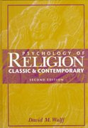 Psychology of Religion 2nd Edition 9780471037064 0471037060