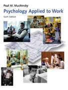 Psychology Applied to Work 6th edition 9780534362522 0534362524
