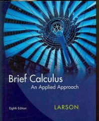 Brief Calculus 8th Edition 9781111807832 1111807833