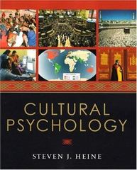 Cultural Psychology 1st Edition 9780393925739 0393925730
