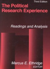 The Political Research Experience: Readings and Analysis 3rd Edition 9780765607577 0765607573