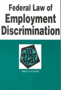 Federal Law of Employment Discrimination in a Nutshell 4th Edition 9780314211682 0314211683