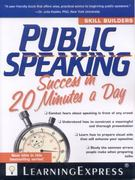 Public Speaking Success in 20 Minutes a Day 0 9781576857465 1576857468