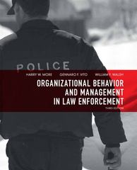 Organizational Behavior and Management in Law Enforcement 3rd Edition 9780135071526 0135071526