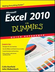 Excel 2010 For Dummies Quick Reference 1st Edition 9780470527559 0470527552