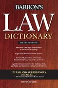 Barron's Law Dictionary 6th Edition 9780764143588 0764143581