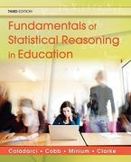Fundamentals of Statistical Reasoning in Education 3rd Edition 9780470574799 0470574798