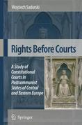 Rights Before Courts 0 9781402069826 1402069820