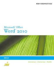 New Perspectives on Microsoft Word 2010 1st edition 9780538748964 0538748966