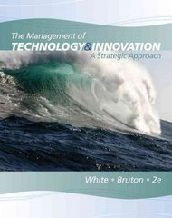 The Management of Technology and Innovation 2nd edition 9780538478229 0538478225
