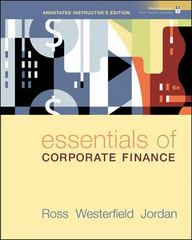 Essentials of Corporate Finance 6th edition 9780073313054 007331305X