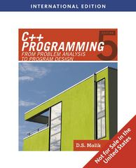 C++ Programming 5th edition 9780538798136 0538798130
