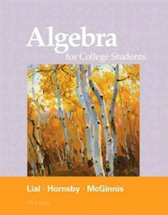 Algebra for College Students 7th edition 9780321715401 0321715403