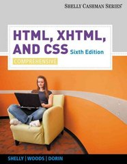 HTML, XHTML, and CSS 6th Edition 9780538747547 0538747544