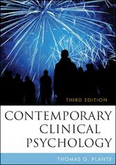 Contemporary Clinical Psychology 3rd Edition 9780470587393 0470587393