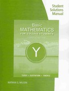 Student Solutions Manual for Tussy/Gustafson/Koenig's Basic Mathematics for College Students 4th edition 9780538734080 0538734086