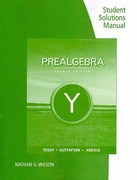 Student Solutions Manual for Tussy/Gustafson/Koenig's Prealgebra 4th edition 9780538493772 0538493771