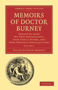 Memoirs of Doctor Burney 0 9781108013727 1108013724